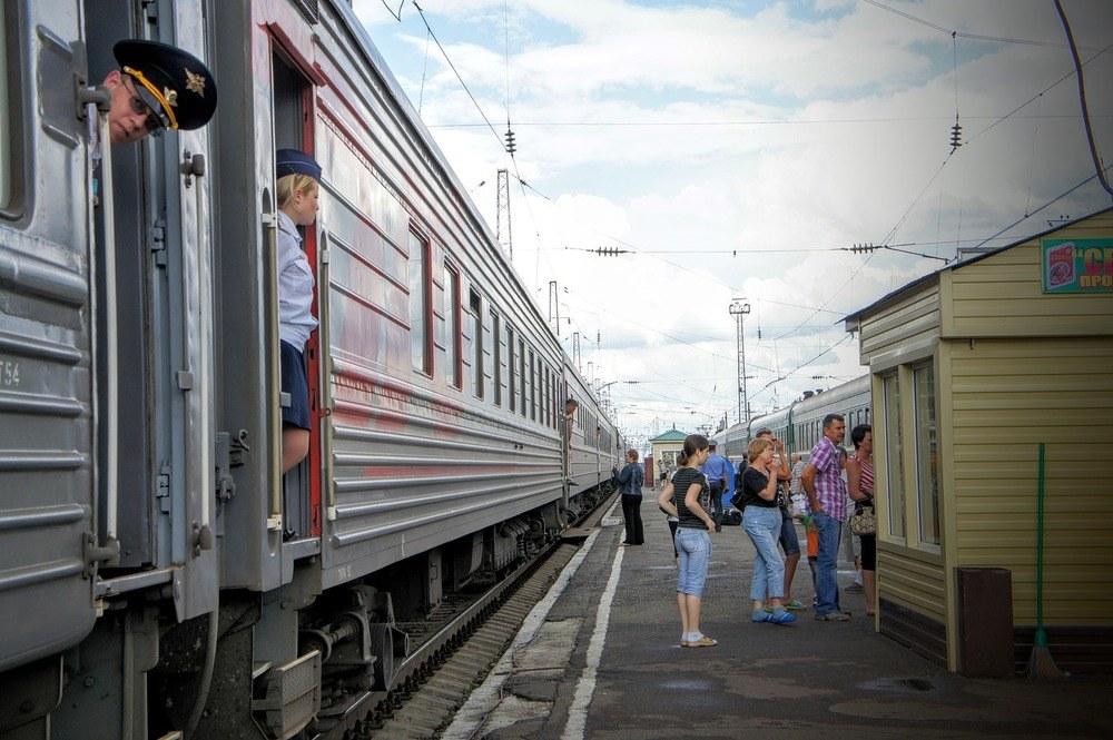 Tag med toget tværs over Rusland